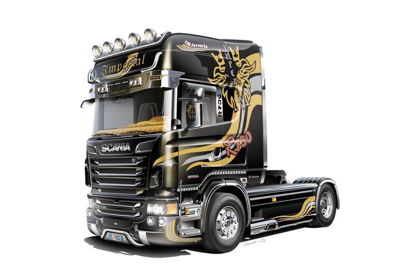 Maqueta Italeri Scania R730 perfil