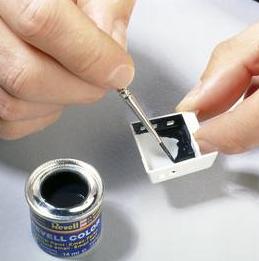 pintando la maqueta