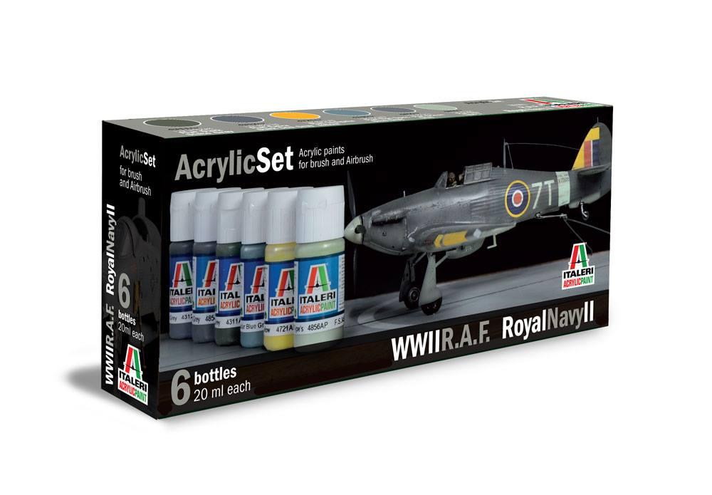 Pinturas acrílicas de Italeri con colores de la RAF en la Royal Navy